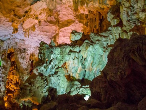 Thien Cung cave Halong bay Vietnam