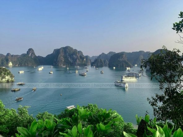 Titop island on Halong bay Vietnam
