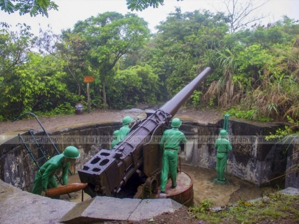 Cannon fort made in France 2 day Halong bay Cat Ba island