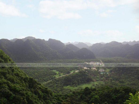 Panoramic view from Ngu Lam peak Cat Ba national park