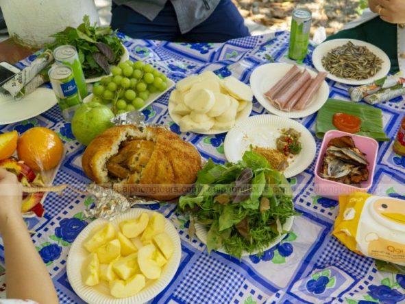Picnic lunch on Hon Dau island