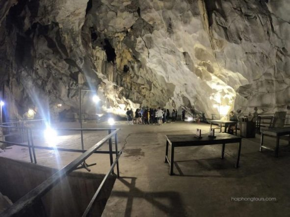 Inside Military Hospial Cave Cat Ba