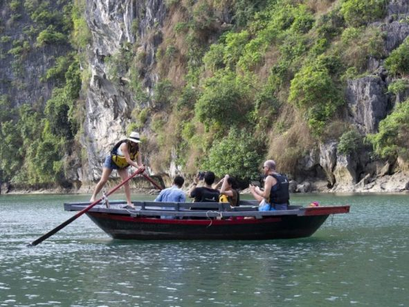 try tb rower on Halong bay