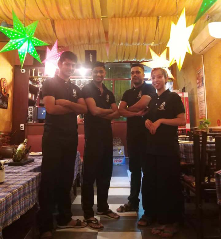 Staffs at Indian Kitchen restaurant