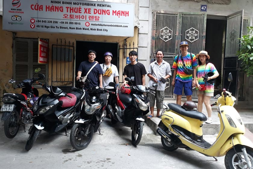 Dung Manh motorbike for rent