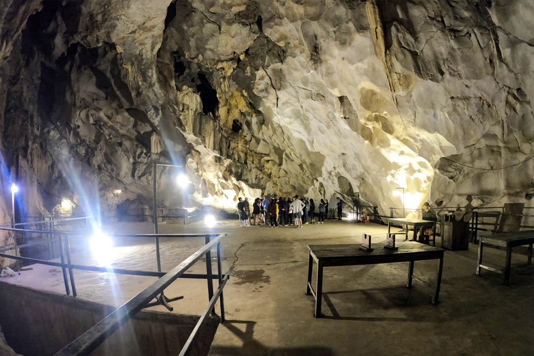 Inside Hospital cave Cat Ba island - Hai Phong Lan Ha bay 2 days