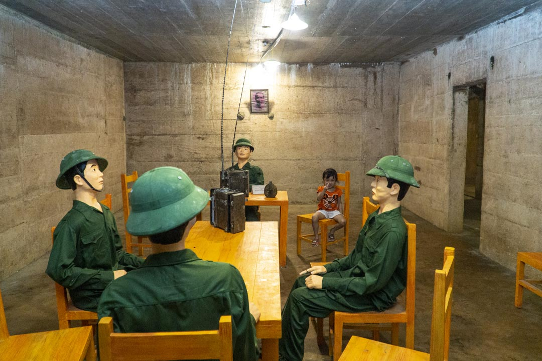 Meeting room in Hospital Cave - Hai Phong Lan Ha bay 3 days